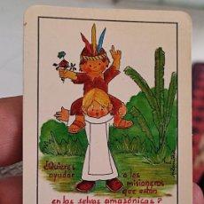 Coleccionismo Calendarios: DOMINICOS MISIONEROS CALENDARIO 1987 9,5 X 6,3 CM APROX NIÑOS JUGANDO INDIOS. Lote 263775435