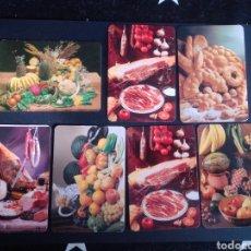 Coleccionismo Calendarios: LOTE DE 7 CALENDARIOS. TEMA, BODEGONES.. Lote 266415278