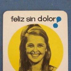 Coleccionismo Calendarios: CALENDARIO DE BOLSILLO 1968, PUBLICIDAD FARMACIA CALMANTE VITAMINADO. Lote 266862564