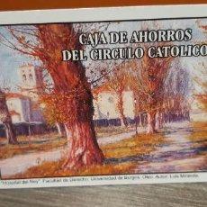 Coleccionismo Calendarios: CALENDARIO DE BOLSILLO FOURNIER PUBLICIDAD CAJA DE AHORROS DEL CIRCULO CATÓLICO (SALIDA1€). Lote 269060318