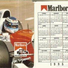 Coleccionismo Calendarios: CALENDARIO FOURNIER (NO LO PONE) - 1995 - MARLBORO - MIKA HÄKKINEN. Lote 269969333