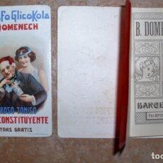 Coleccionismo Calendarios: FARMACIA: CALENDARIO DE BOLSILLO FARMACIA DOMENECH MAS DE 100 AÑOS- OPORTUNIDAD. Lote 270549318