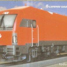 Coleccionismo Calendarios: CALENDARIO DE RUSIA - 2008 - TREN - LITHYANIAN RAILWAYS. Lote 271681763