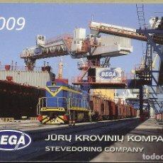 Coleccionismo Calendarios: CALENDARIO DE LITUANIA - 2009 - TREN. Lote 271682478