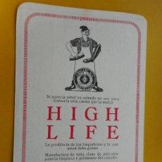 Coleccionismo Calendarios: ANTIGUO CALENDARIO PUBLICITARIO.J.BALART.HIGH LIFE PARA EL CALZADO.BARCELONA 1930. Lote 271696478