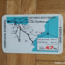 Collezionismo Calendari: CALENDARIO PUBLICITARIO CAMARA OFICIAL DE COMERCIO. SANTANDER. FERROCARRIL 1965. VER FOTOS. Lote 275192998
