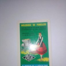 Coleccionismo Calendarios: CALENDARIO HERACLIO FOURNIER, MOLEDORA DE FORRAJES ZAGA, AÑO 1958. Lote 275936273