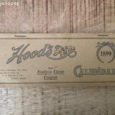 Coleccionismo Calendarios: ZARZA PARRILLA HOOD'S SARSA PARILLA CALENDAR 1899. ORIGINAL USA. Lote 276800183