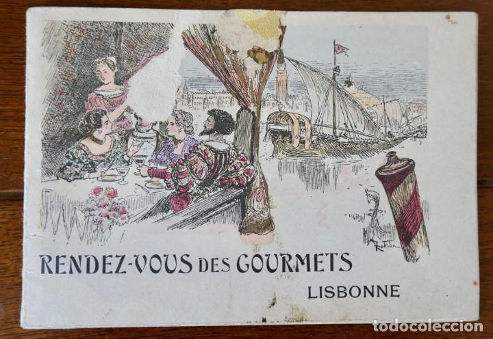 CALENDARIO RENDEZ- VOUS DES GOURMETS- LISBONNE - 1906 (Coleccionismo - Calendarios)