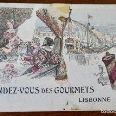 Coleccionismo Calendarios: CALENDARIO RENDEZ- VOUS DES GOURMETS- LISBONNE - 1906. Lote 276921108