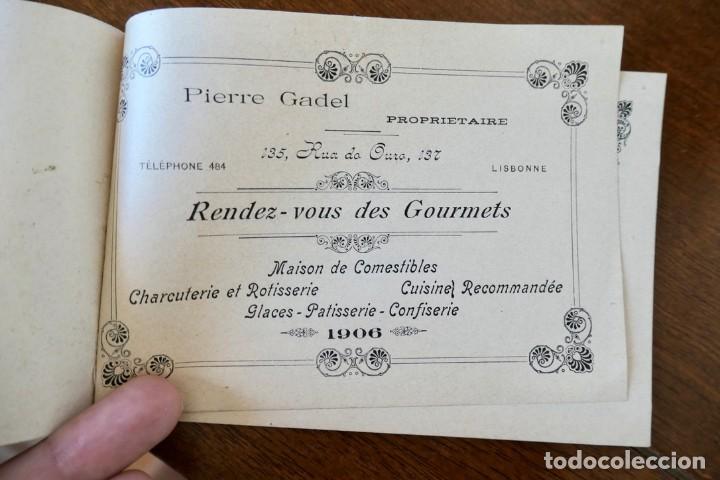 Coleccionismo Calendarios: CALENDARIO RENDEZ- VOUS DES GOURMETS- LISBONNE - 1906 - Foto 2 - 276921108