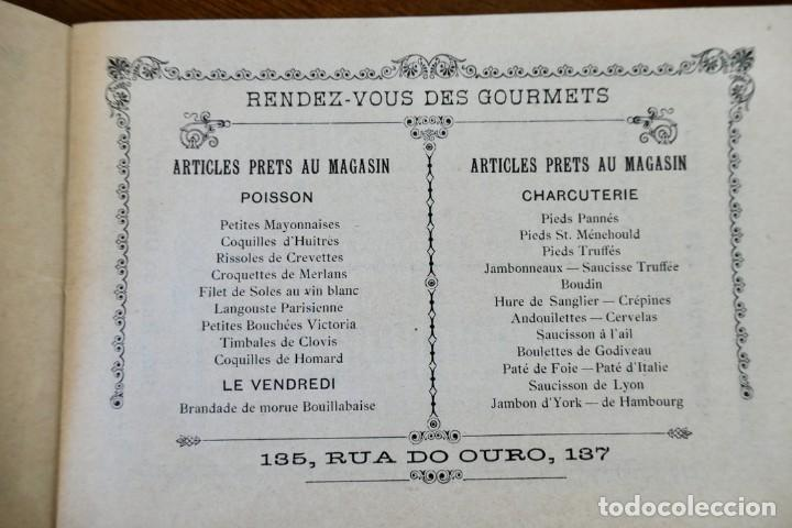 Coleccionismo Calendarios: CALENDARIO RENDEZ- VOUS DES GOURMETS- LISBONNE - 1906 - Foto 3 - 276921108