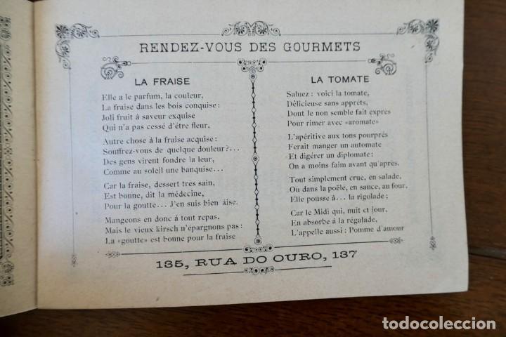 Coleccionismo Calendarios: CALENDARIO RENDEZ- VOUS DES GOURMETS- LISBONNE - 1906 - Foto 5 - 276921108