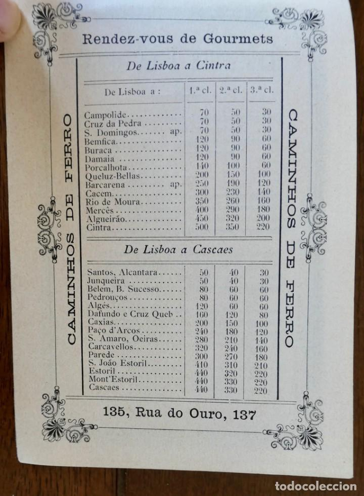 Coleccionismo Calendarios: CALENDARIO RENDEZ- VOUS DES GOURMETS- LISBONNE - 1906 - Foto 8 - 276921108