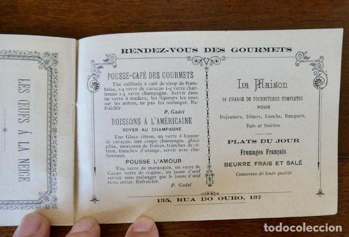 Coleccionismo Calendarios: CALENDARIO RENDEZ- VOUS DES GOURMETS- LISBONNE - 1906 - Foto 9 - 276921108