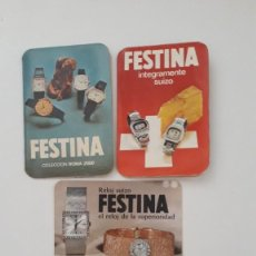Coleccionismo Calendarios: LOTE 4 CALENDARIOS DE BOLSILLO. RELOJ SUIZO FESTINA. AÑOS 1968, 1974, 1977 Y 1978.. Lote 277194028