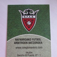 Coleccionismo Calendarios: CALENDARIO DE BOLSILLO - 2012 - FEDERACION NAVARRA DE ARBITROS DE FUTBOL. Lote 278450168