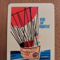 Coleccionismo Calendarios: CALENDARIO DE BOLSILLO FOURNIER PUBLICIDAD BANCO DE BILBAO 1965. Lote 278454323