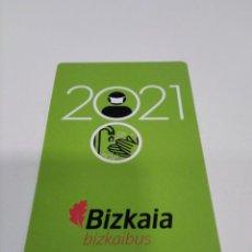 Coleccionismo Calendarios: CALENDARIO AÑO 2021 BIZKAIA BIZKAIBUS.. Lote 279406283
