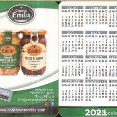 Coleccionismo Calendarios: CALENDARIO PUBLICIDAD - 2021 - CONSERVAS EMILIA. Lote 279457978