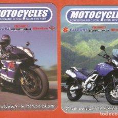 Coleccionismo Calendarios: 2 CALENDARIOS DE BOLSILLO AÑO 2003 MOTOS SUZUKI - MOTOCYCLES - ALICANTE - VER FOTO REVERSOS. Lote 279457988