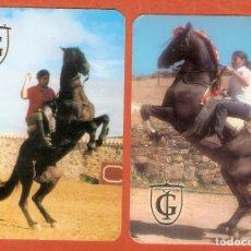 Coleccionismo Calendarios: 2 CALENDARIOS DE BOLSILLO AÑOS 2005 - 2006 CABALLOS - PUBLICIDAD DE ALICANTE - VER FOTO REVERSOS. Lote 279458273