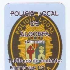Coleccionismo Calendarios: CALENDARIO DE BOLSILLO AÑO 2003 POLICIA LOCAL DE ALGORFA - ALICANTE - VER FOTO REVERSO. Lote 279464713