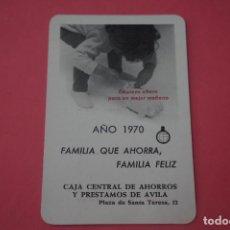Colecionismo Calendários: CALENDARIO DE BOLSILLO FOURNIER CAJA DE AHORROS DE AVILA AÑO 1970 LOTE 14 MIRAR FOTOS. Lote 286272208