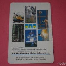 Collezionismo Calendari: CALENDARIO DE BOLSILLO FOURNIER KLK ELECTRO MATERIALES AÑO 1995 LOTE 15 MIRAR FOTOS. Lote 286450198