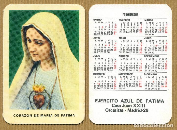 CALENDARIOS BOLSILLO - EJERCITO AZUL DE FATIMA MADRID 1982 (Coleccionismo - Calendarios)