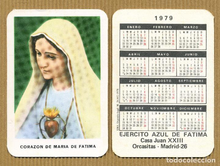 CALENDARIOS BOLSILLO - EJERCITO AZUL DE FATIMA MADRID 1979 (Coleccionismo - Calendarios)