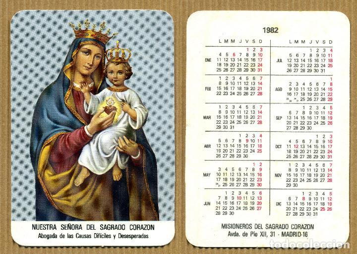 CALENDARIOS BOLSILLO - MISIONERAS NUESTRA SEÑORA DEL SAGRADO CORAZON MADRID (Coleccionismo - Calendarios)