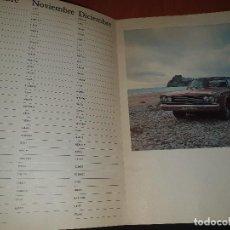 Coleccionismo Calendarios: CALENDARIO AGENDA DE DODGE, DIPTICO, + CARTA COMERCIAL Y SOBRE DE CHRYSLER. Lote 287558268