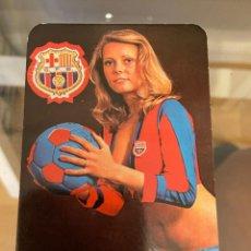 Coleccionismo Calendarios: CALENDARIO FUTBOL CLUB BARCELONA 1977 BUEN ESTADO. Lote 287647903