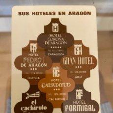 Coleccionismo Calendarios: CALENDARIO SUS HOTELES EN ARAGON 1977 BUEN ESTADO. Lote 287650458