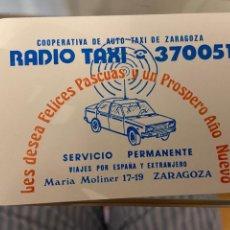 Coleccionismo Calendarios: CALENDARIO RADIO TAXI ZARAGOZA 1982 BUEN ESTADO. Lote 287758613