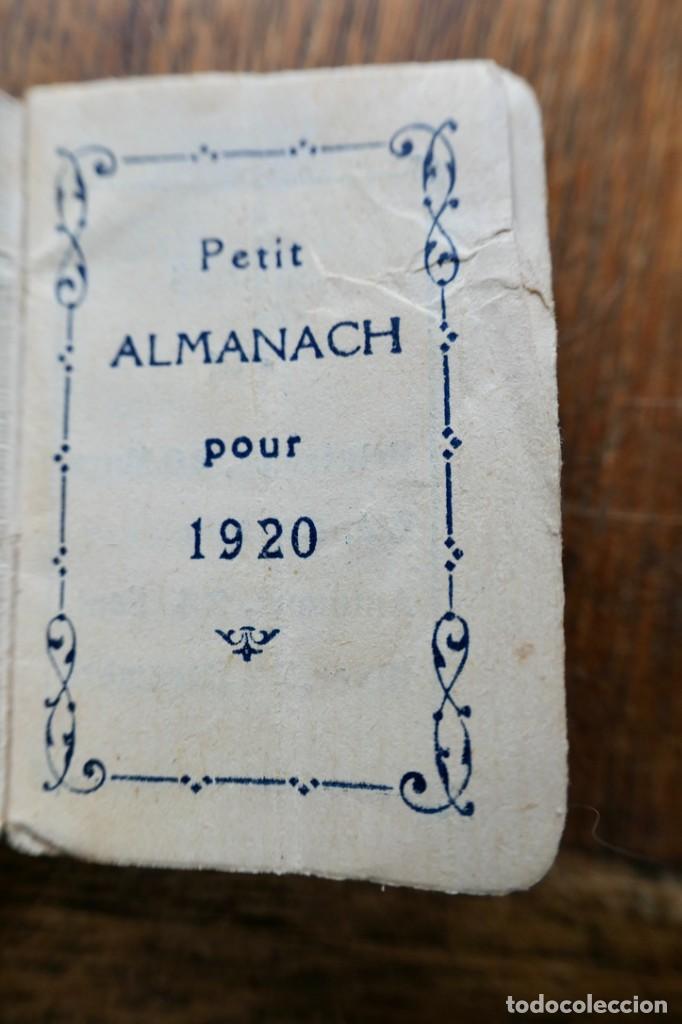 Coleccionismo Calendarios: PETIT ALMANACH 1920-NOUVELLE LIBRAIRIE FRANÇAISE-LOUIS BERGÉ ET KIOSQUE FRANÇAIS-5 X 3,5 CM - Foto 2 - 287892133