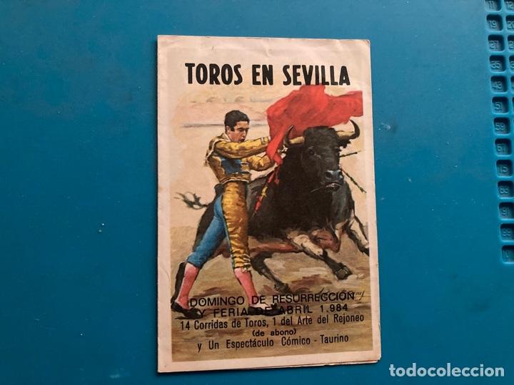 CALENDARIO TAURINO FERIA DE ABRIL 1984 (Coleccionismo - Calendarios)