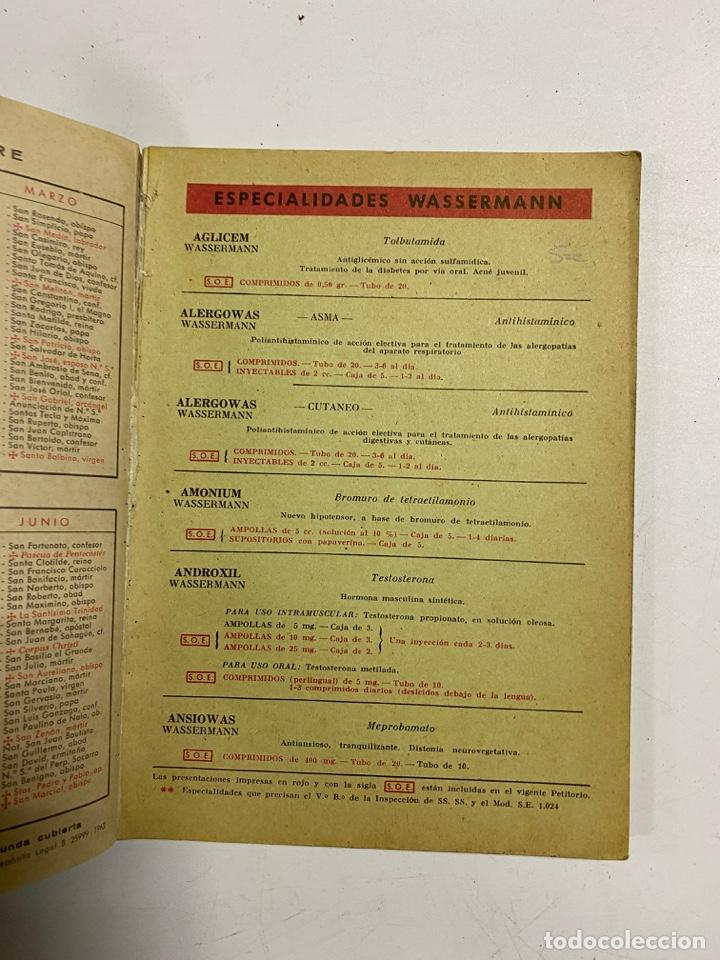 Coleccionismo Calendarios: AGENDA WASSERMANN AÑO 1963. ALGUNAS PAGINAS PINTADAS. - Foto 3 - 287978798