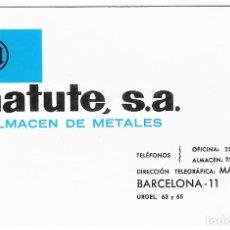 Colecionismo Calendários: CALENDARIO FOURNIER 1970 MATUTE S.A ALMACÉN DE METALES. Lote 288071118