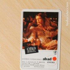 Coleccionismo Calendarios: CALENDARIO FOURNIER. DISEÑOS Y CREACIONES ABAD JOYERO. BARCELONA. AÑO 1978. ES UN HF8.. Lote 288087063