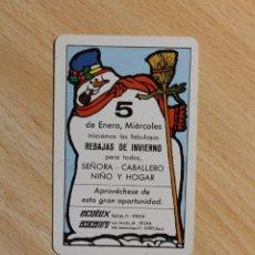 Coleccionismo Calendarios: CALENDARIO FOURNIER. ECOTEX - ECOCENTRO. 5 DE ENERO. MUÑECO DE NIEVE. VITORIA. AÑO 1983.. Lote 288088768