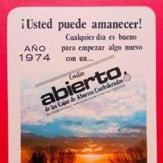 Coleccionismo Calendarios: CALENDARIO FOURNIER PUBLICIDAD CAJA AHORROS INMACULADA CRÉDITO ABIERTO 1974. Lote 288171638