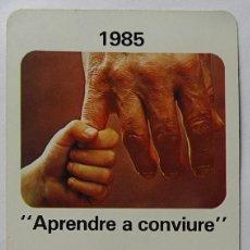 Coleccionismo Calendarios: CALENDARIO DE FOURNIER , CAIXA DESTALVIS SABADELL, AÑO 1985. Lote 288489778