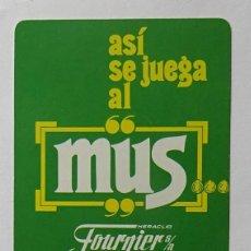 Coleccionismo Calendarios: CALENDARIO DE FOURNIER , MUS, AÑO 1987. Lote 288490388