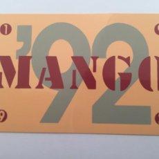 Coleccionismo Calendarios: CALENDARIO MANGO 1992. Lote 288561233