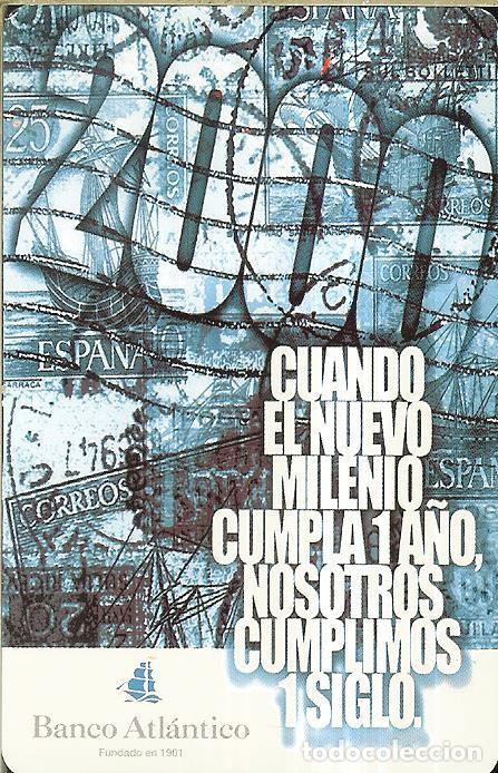 CALENDARIO PUBLICIDAD - 2000 - BANCO ATLÁNTICO (Coleccionismo - Calendarios)
