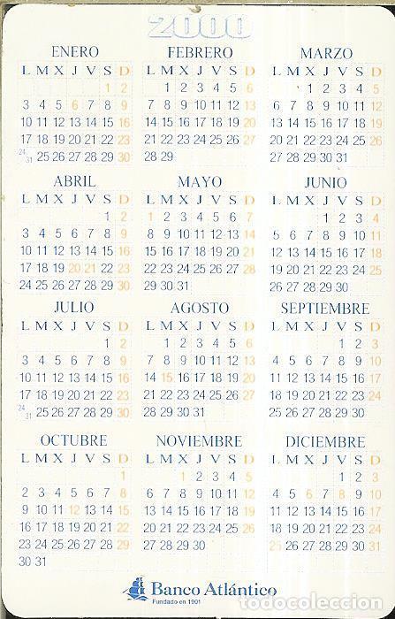 Coleccionismo Calendarios: CALENDARIO PUBLICIDAD - 2000 - BANCO ATLÁNTICO - Foto 2 - 288571243