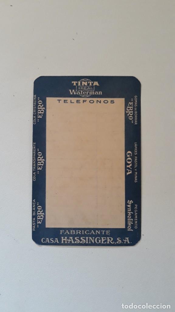 Coleccionismo Calendarios: CALENDARIO DE BOLSILLO DE 1943. TINTA WATERMAN. PRODUCTOS EBRO. FABRICANTE CASA HASSINGER, S.A - Foto 2 - 288572228