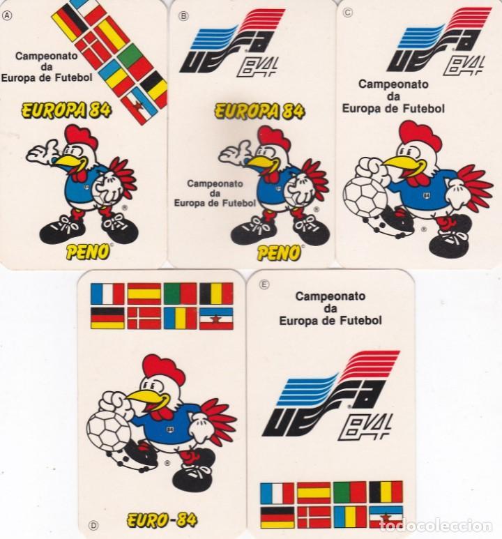 5 CALENDARIOS PORTUGAL 1984/1985 - EUROCOPA 84 - MASCOTA PENO - CAMPEONATO DE EUROPA DE FUTBOL (Coleccionismo - Calendarios)